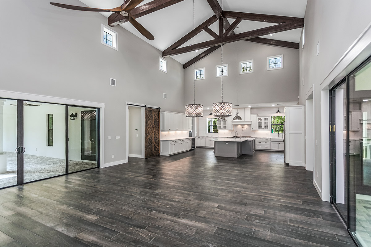 Soaring 24' Ceilings in Great Room, Dining, and Kitchen