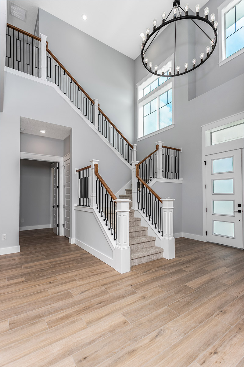 Stairs with Custom Railing
