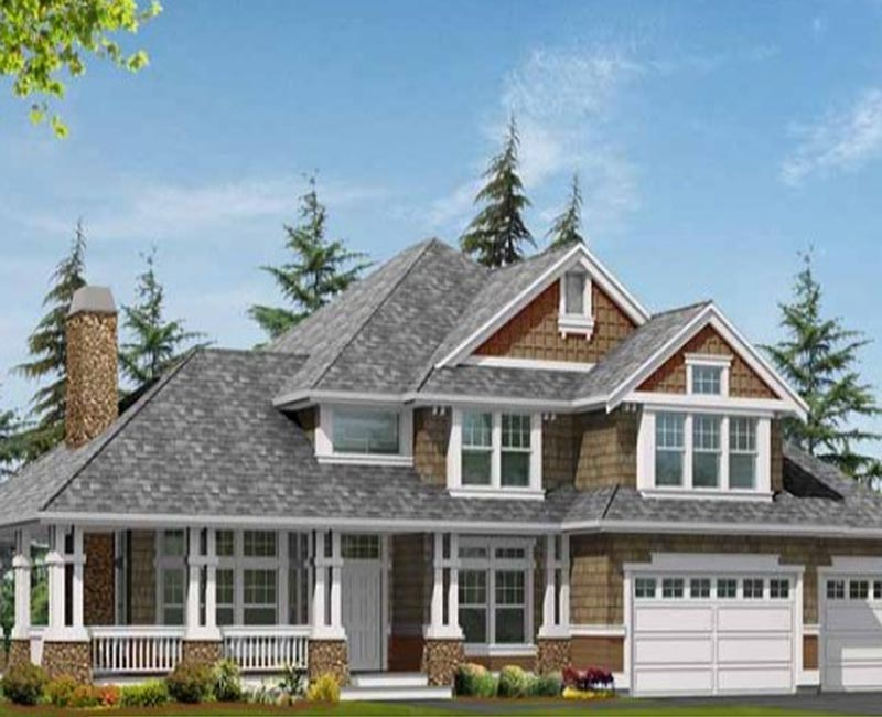 Amazing detailing on this craftsman custom home with 3 778 for Southern custom homes