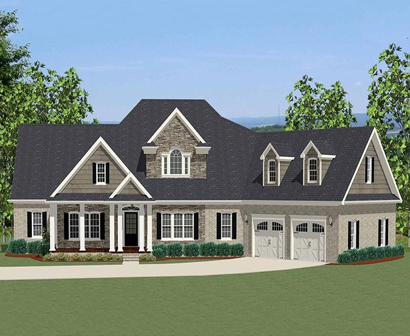 An s t favorite country classic custom home for Southern custom homes