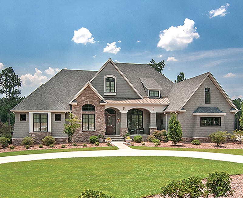 Beautiful French Country Estate Custom Home with 3881