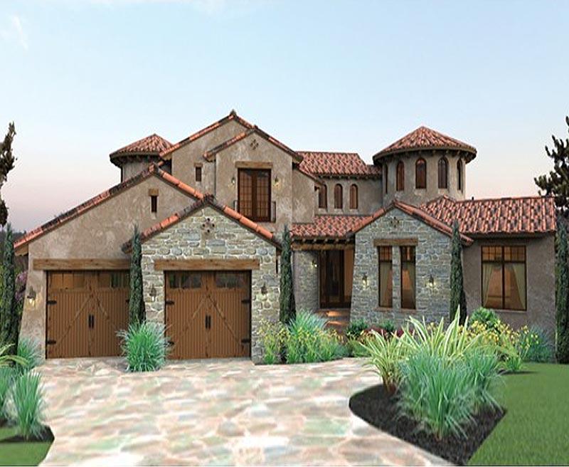 Twin Turrets Define This Quintessential Tuscan Designed