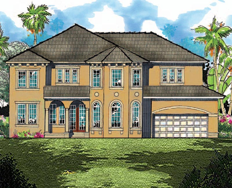Tuscan Inspired 2 Story Custom Home With 3 586 Square Feet