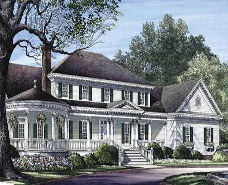 Colonial Classic Country Custom Home With Two Master
